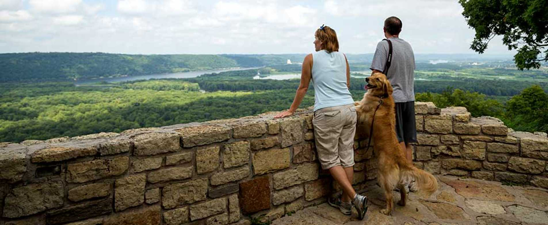 Wyalusing State Park overlook