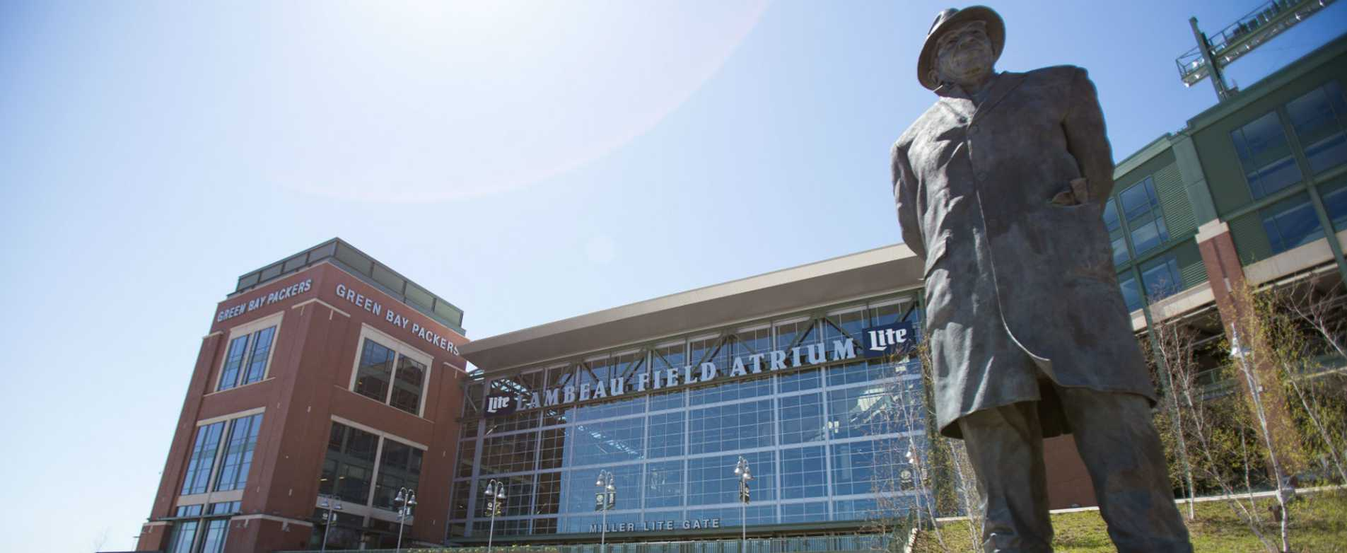 Vince Lombardi Statue Outside Lambeau Field