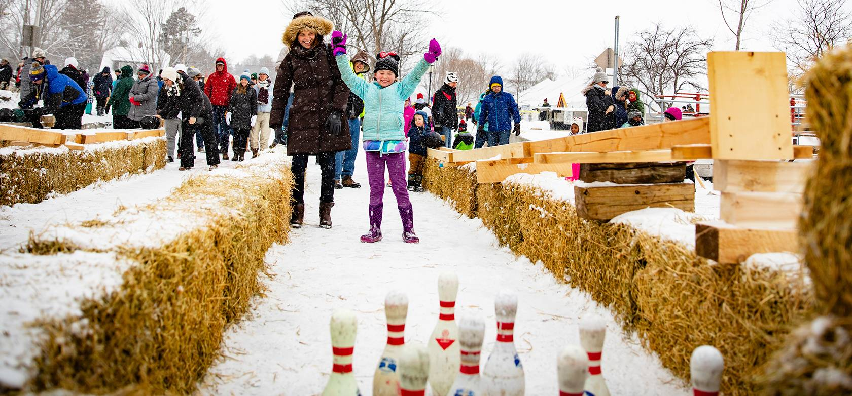 Ice Bowling at Fish Creek Winter Festival