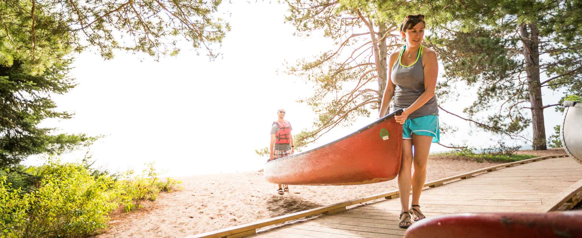 Canoeing on Madeline Island