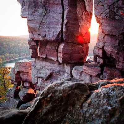 Roack formations at Devil's Lake State Park