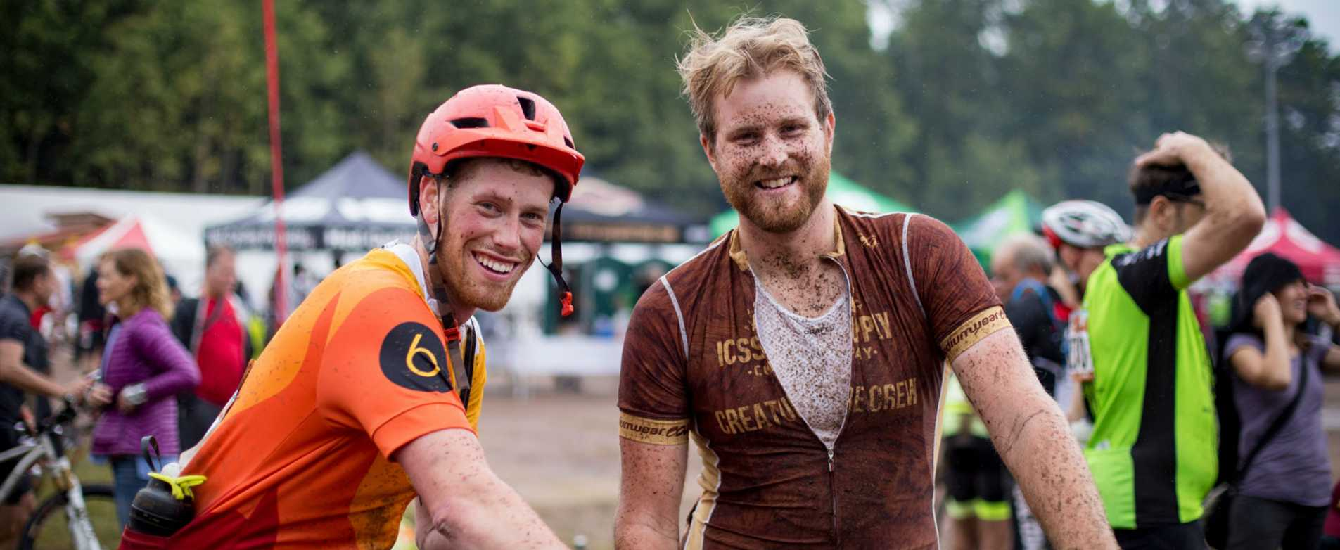 Muddy Race Finishers at Chequamegon Fat Tire Bike Festival
