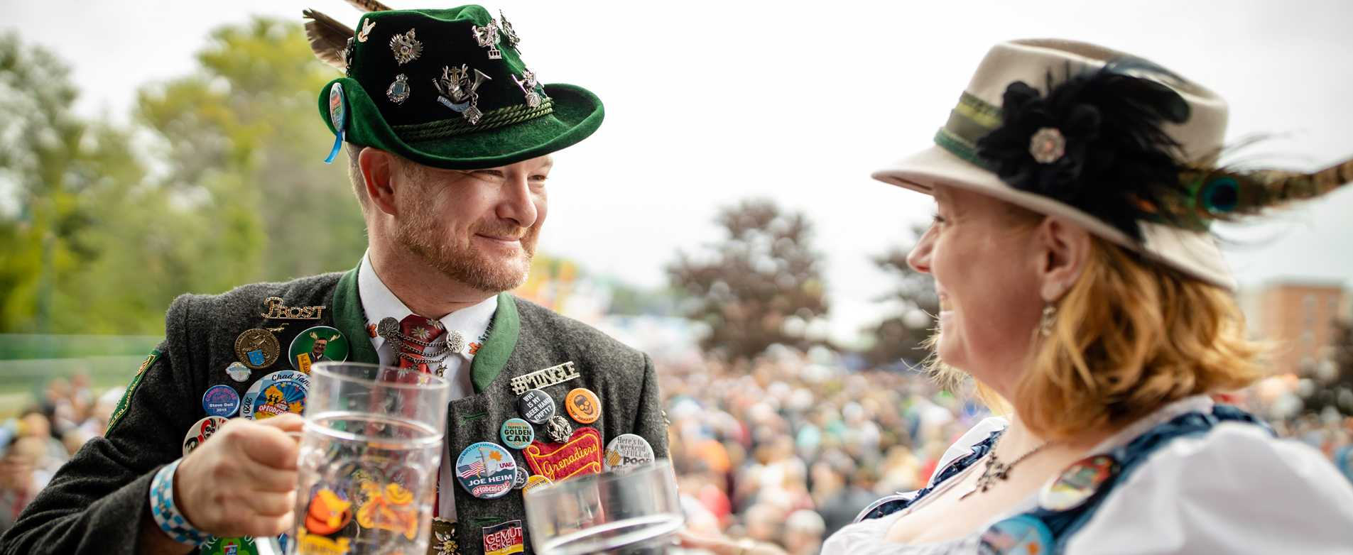 Couple Cheersing at Oktoberfest - Events