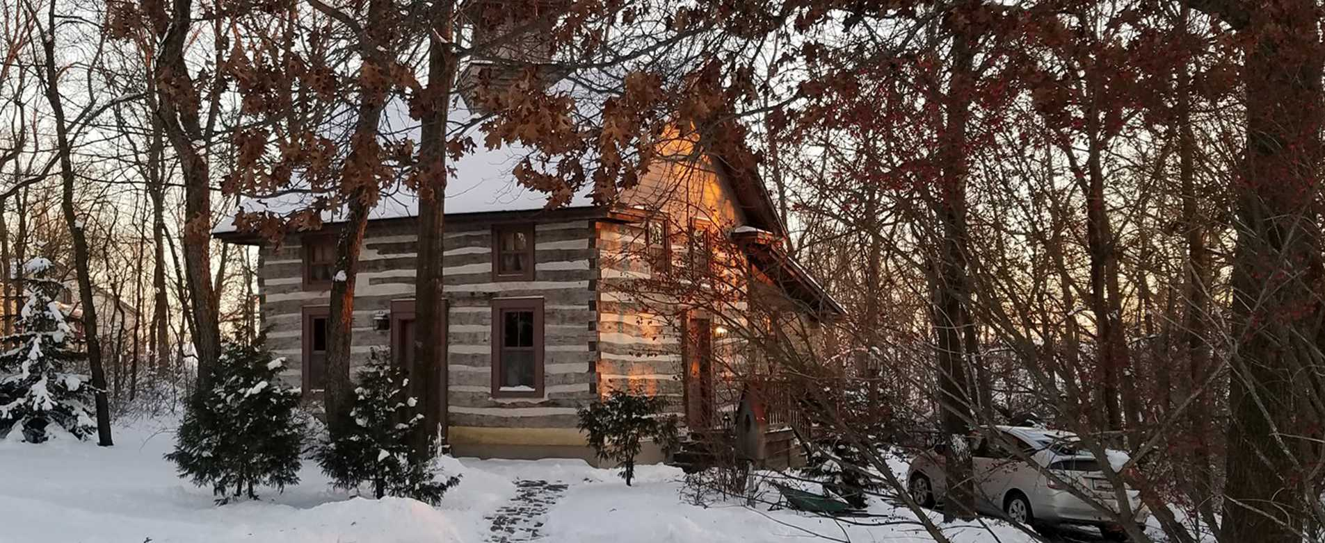 Walnut Ridge Cabin in Winter
