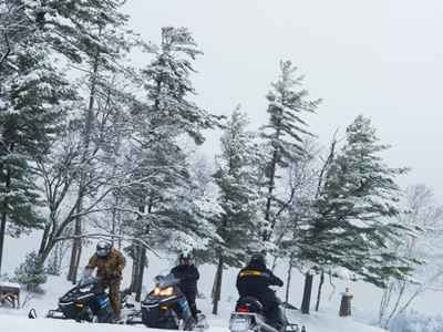 Snowmobiling in St. Germain