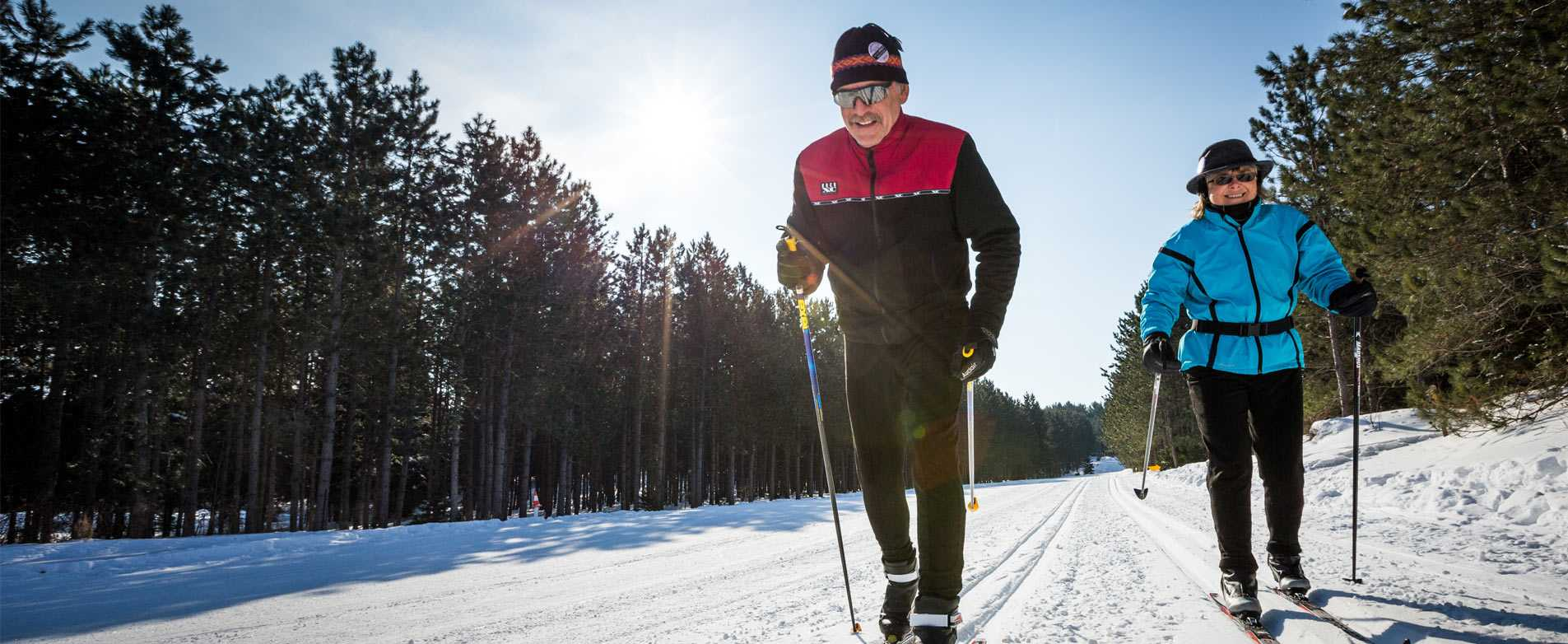 Cross Country Skiing in Nine Mile Forest
