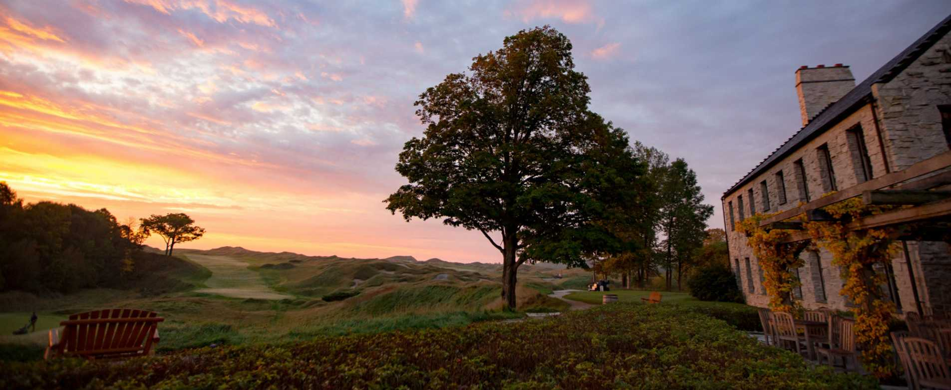 Sunrise Outside Clubhouse at Whistling Straits