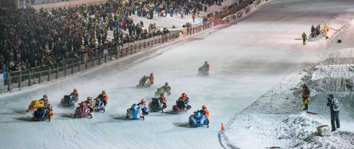 168 Snowmobile Riders at Eagle River World Championship