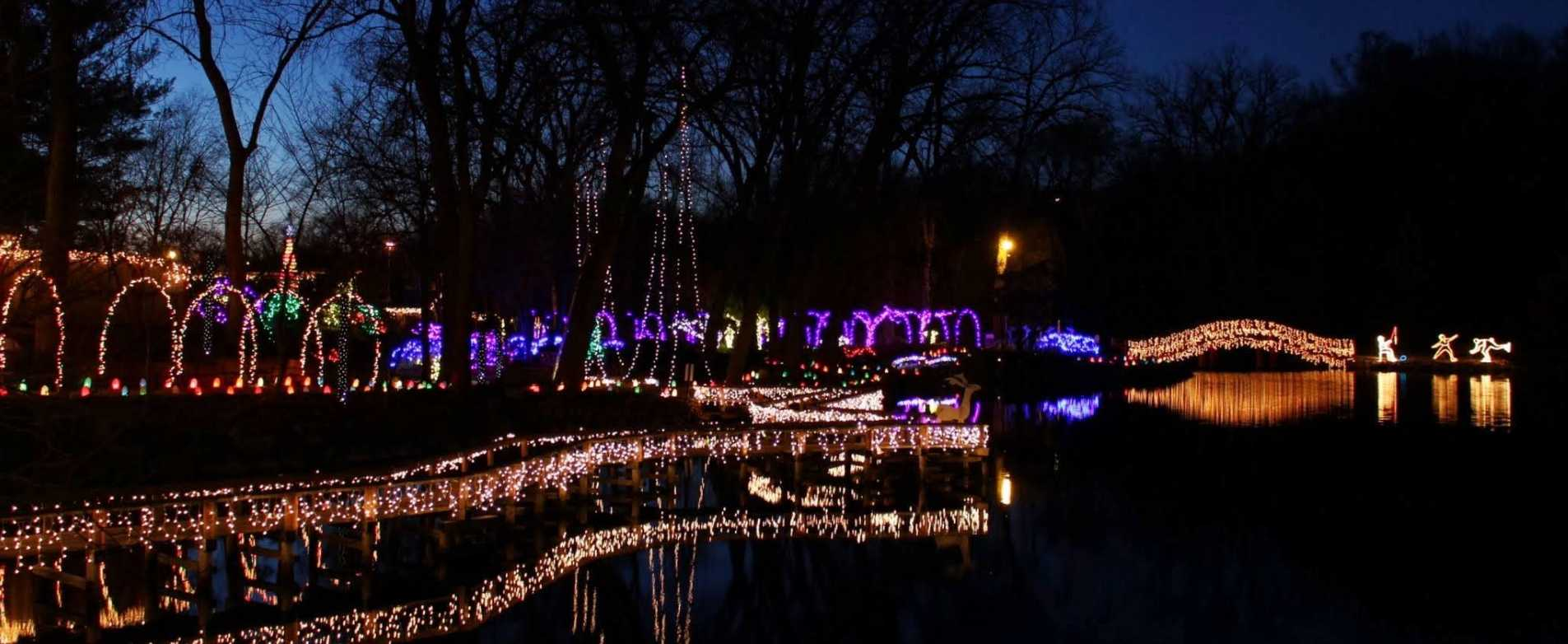 Holiday Light Show at Rotary Botanical Gardens