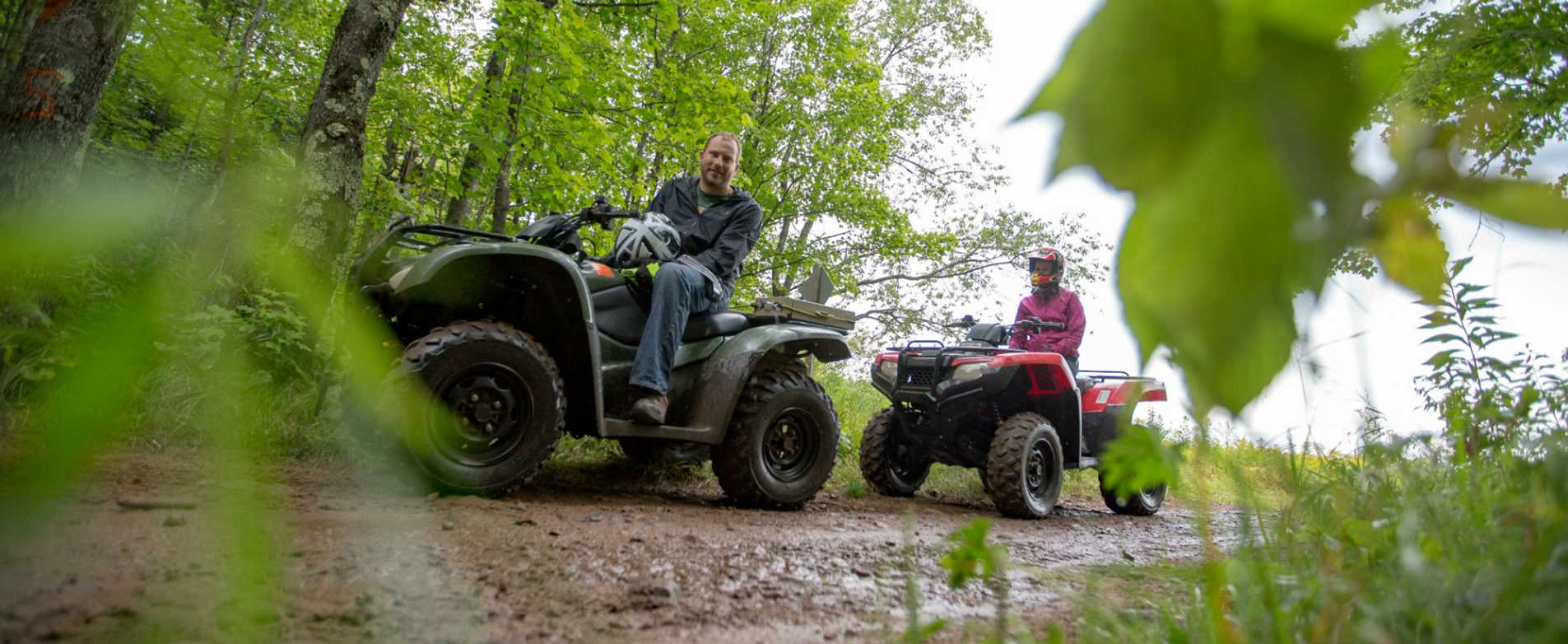 Couple ATVing on Dead Horse Trail
