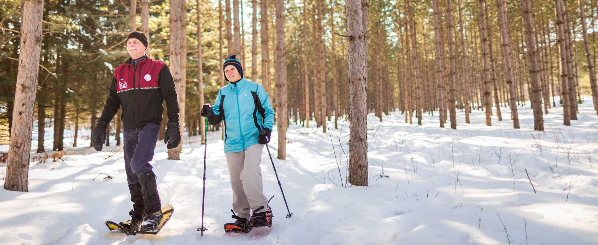 Snowshoeing in Nine Mile Forest