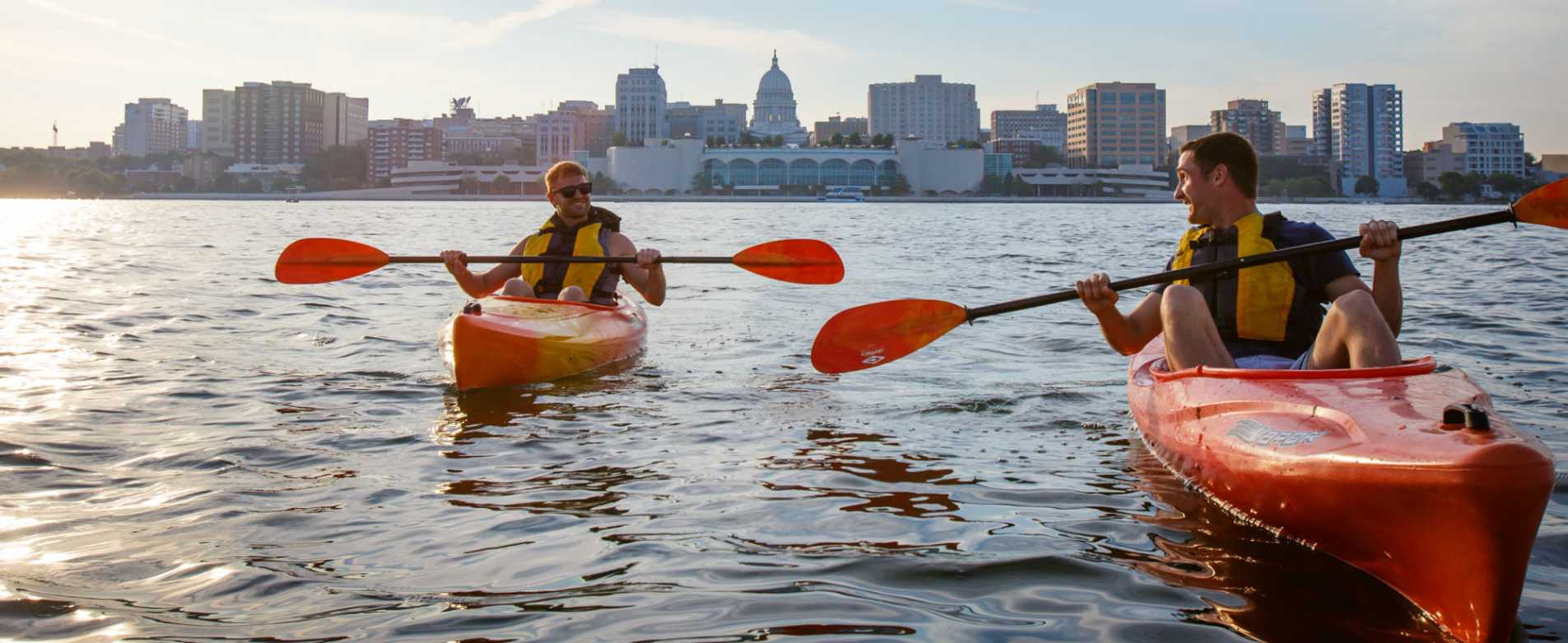 Men Kayaking - Lake Monona