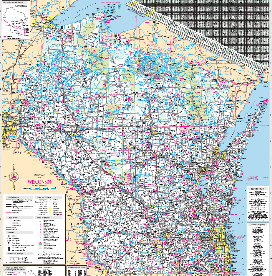 2019-20 Official State Highway Map