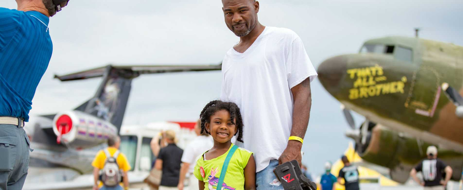 Father and Daughter Enjoying  EAA AirVenture
