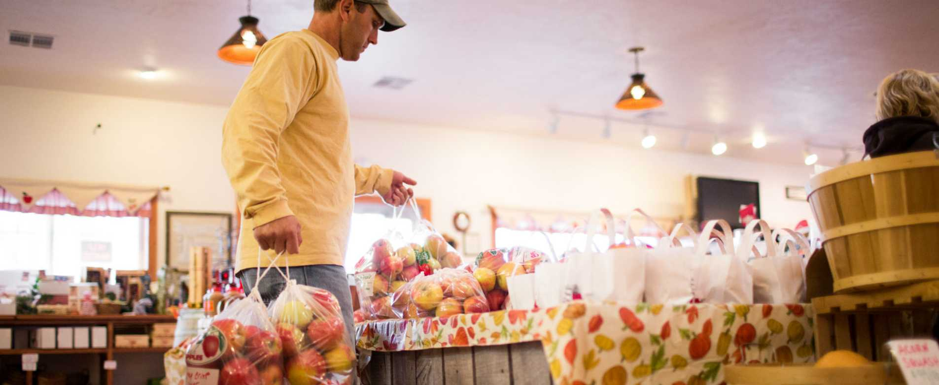Shopping for Apples at Orchard Country Winery and Market