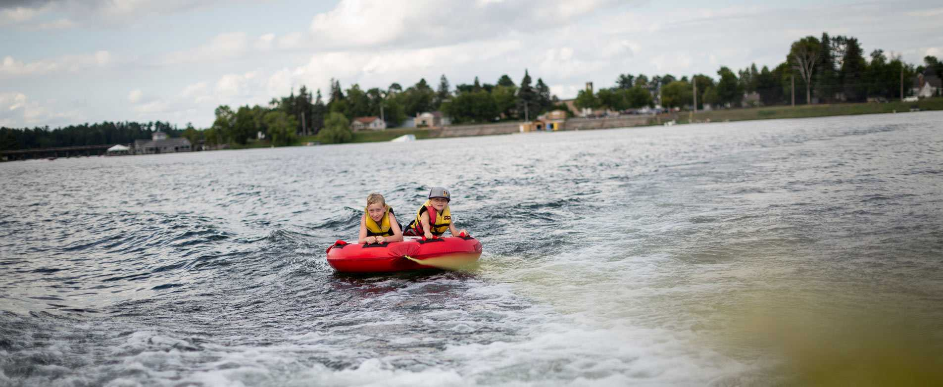 Tubing on Lake Minocqua