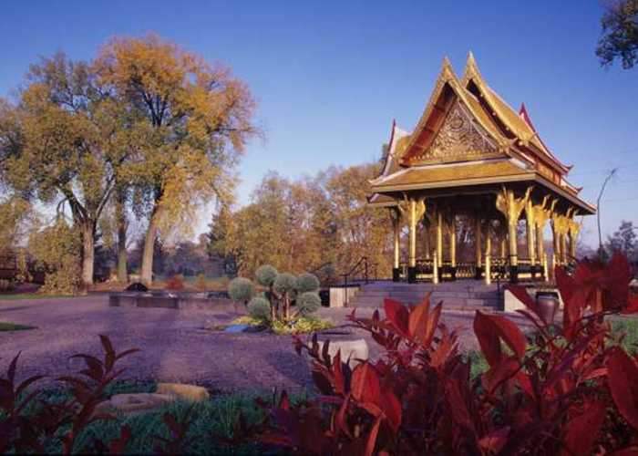 Thai Pavilion in the fall