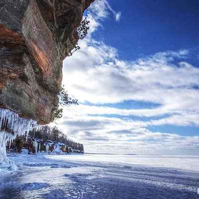 ice caves in bayfield