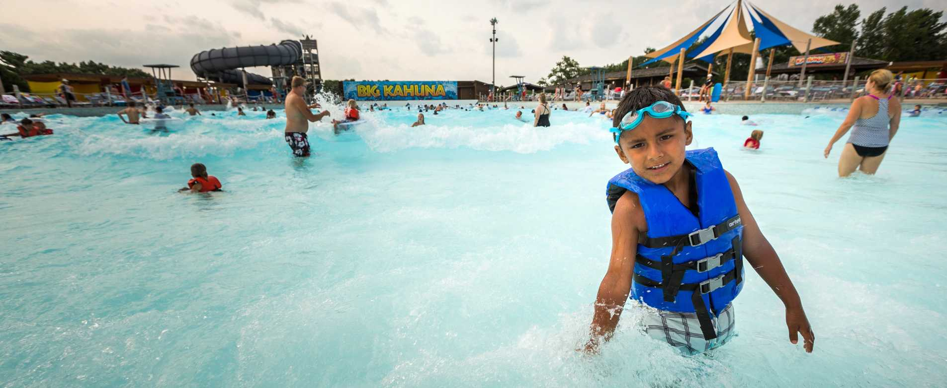 Boy at Big Kahuna Wave Pool