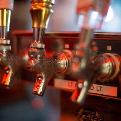 Ice Cold Domestic Beers on Tap at the Supper Club Concession Stand
