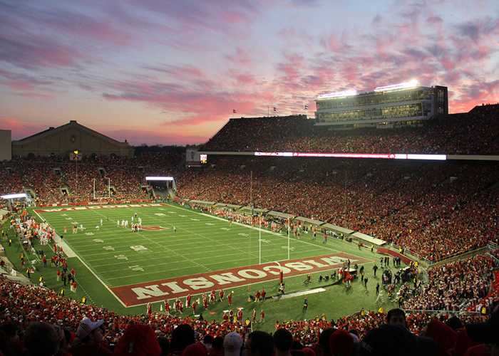 Camp randall during night game