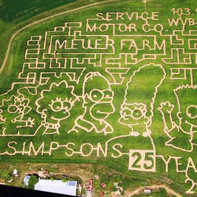 Birds eye view of Meuer farm corn maze