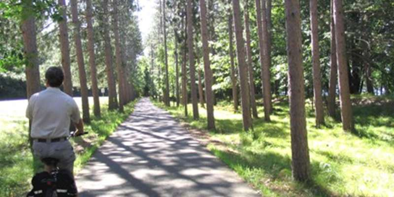 A scenic section of the trail