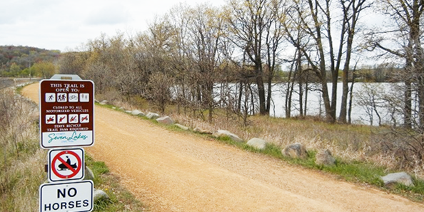 Enjoy your ride or walk along the Stower Seven Lakes State Trail.