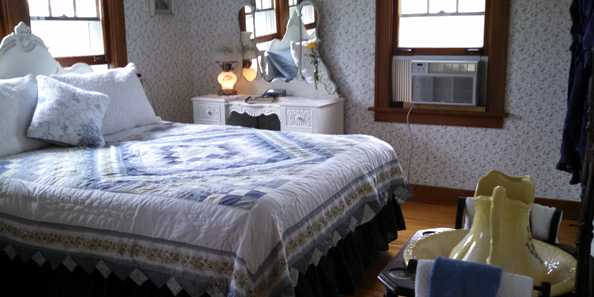 Accommodations and furnishings are period pieces.