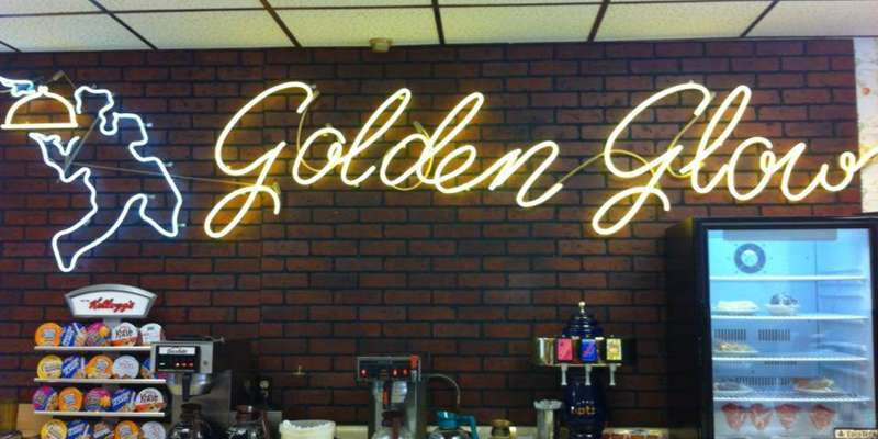Breakfast is served all day at the Golden Glow Cafe, located across from City Hall on Ashland's historic Main Street.
