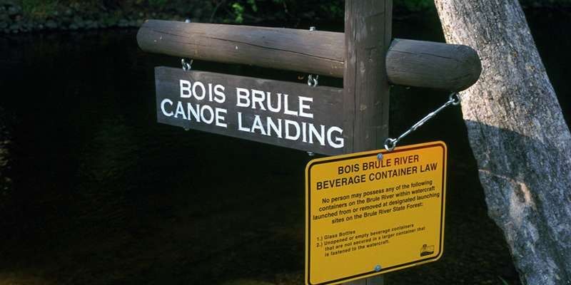 The Bois Brule Campground features a canoe landing for paddling on the Brule River. Photo from Flickr user tsuacctnt.