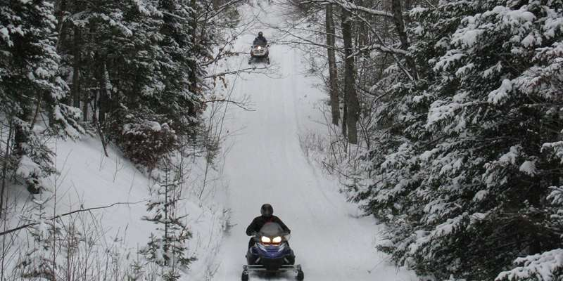 Snowmobiling in Price County