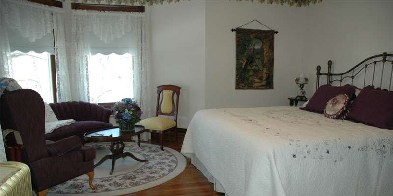 Rooms are beautifully decorated with antique furniture and accessories.