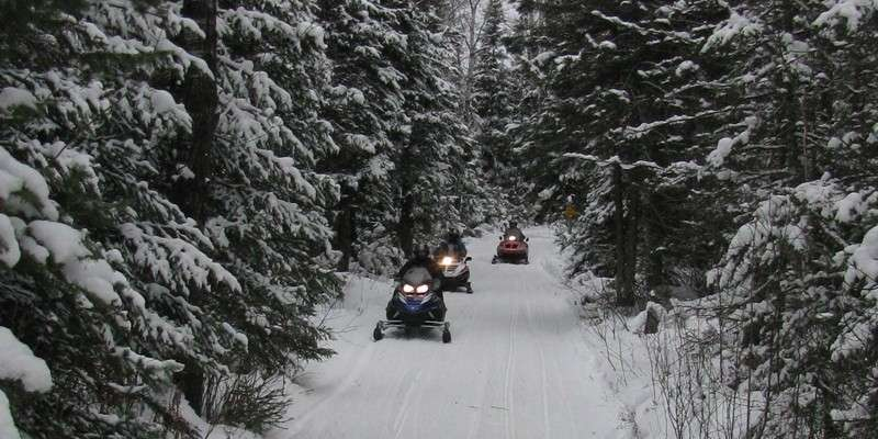 Price County Snowmobile Trails Feb. 2013