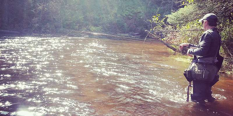 The Brule River State forest is home to the Brule River, a premiere trout fishing stream