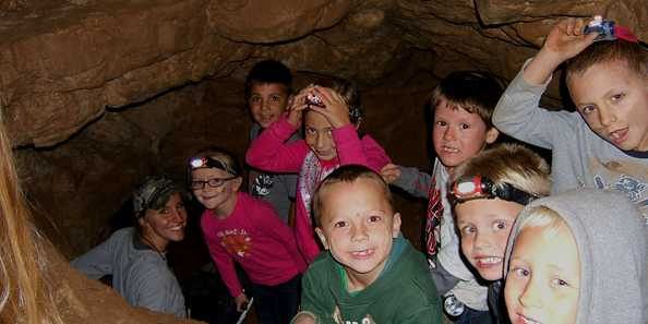 Caving at Ledge View Nature Center