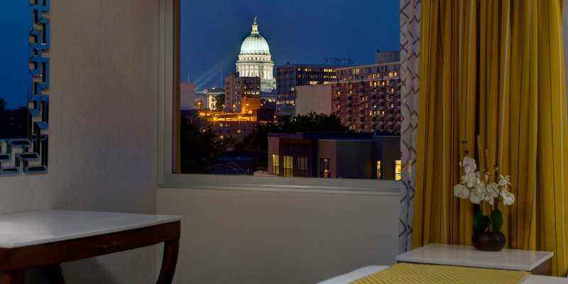 With modern and welcoming sleeping rooms offering views of the state capitol and downtown Madison, you'll be sure to enjoy your stay!