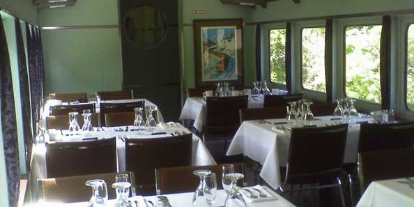 Round trip First Class Dinner train excursion that lasts 90 minutes.