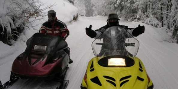 360 miles of snowmobile trails in Polk County.