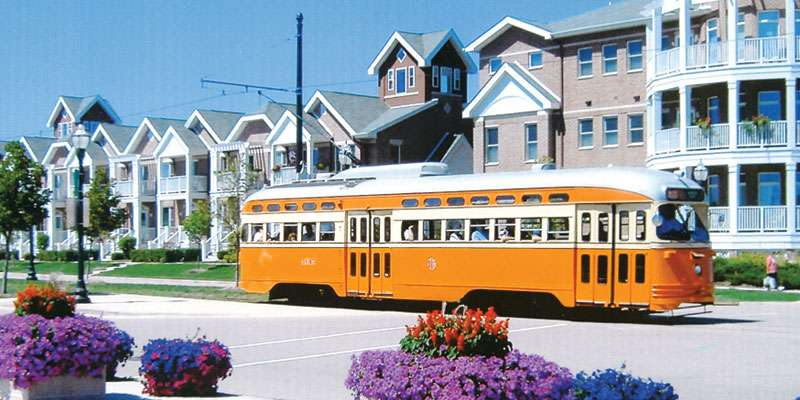 One of Kenosha's Electric Streetcars
