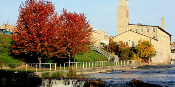 Brickner Woolen Mills & the falls