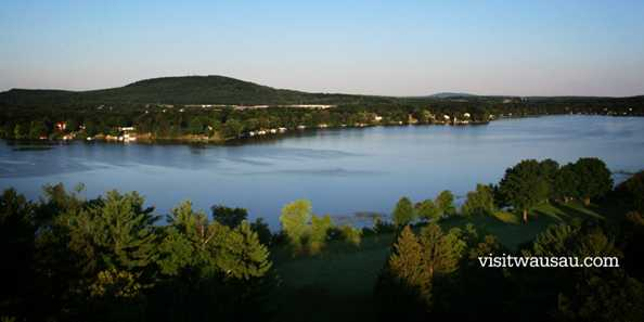 Lake Wausau and Rib Mountain in Wausau/Central Wisconsin.
