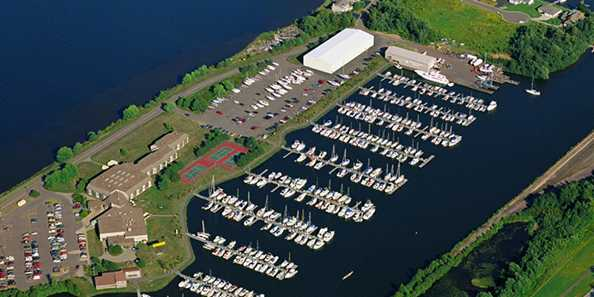 Aerial photo from barkers-island-marina.com
