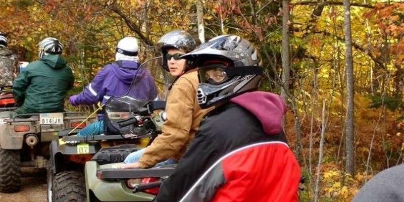 Fall ATV riding on the Flambeau Trail System