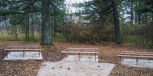 The Superior Municipal Forest features an outdoor classroom. Photo from the City of Superior.