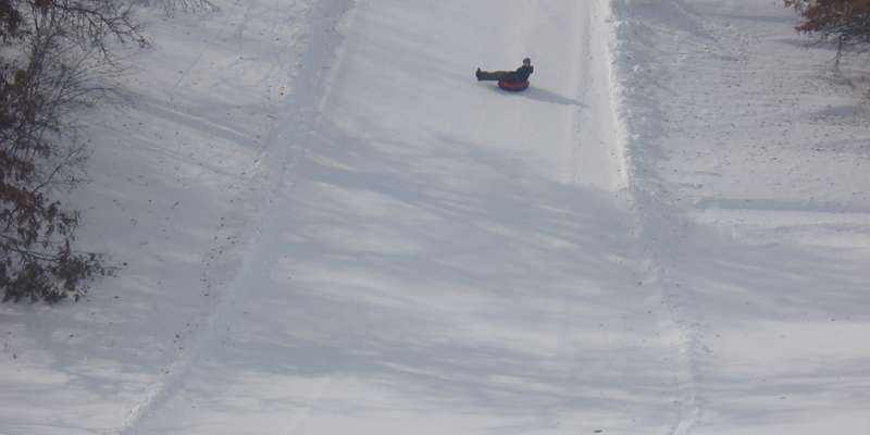 Open slopes & old school tubing .....like it should be!
