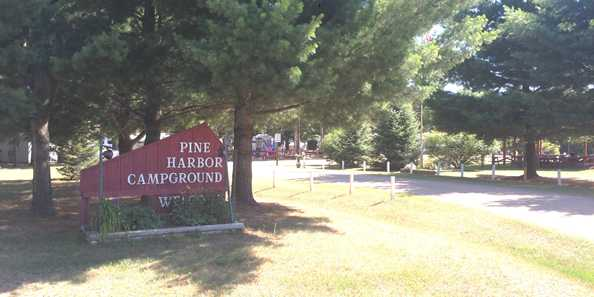 Pine Harbor Campground entrance
