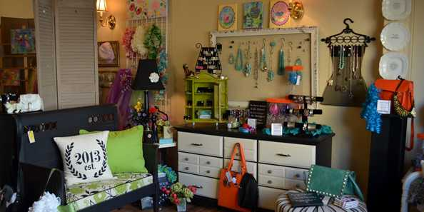 Inside of Blink Artisan Boutique which features items made by local artists.