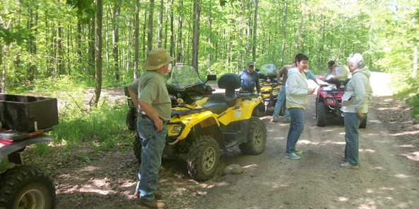 Taking a rest on White Lake's ATV trails in Langlade County