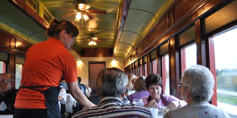 Dining on the Elegant Dinner Train